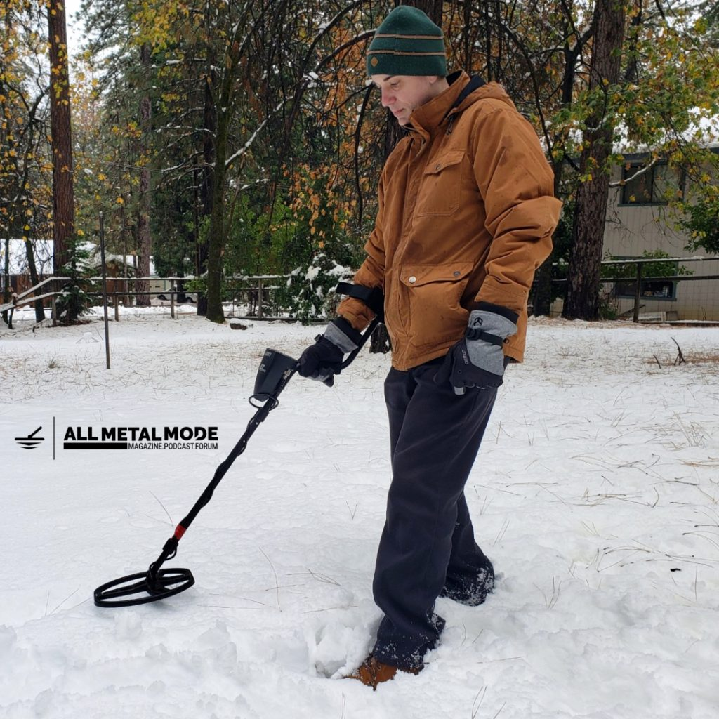 Metal Detecting Snow